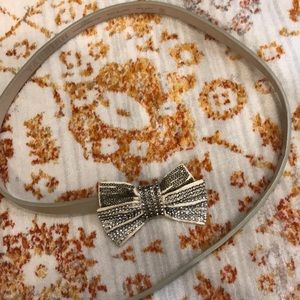 Gold Sparkle Bow Belt Size XS